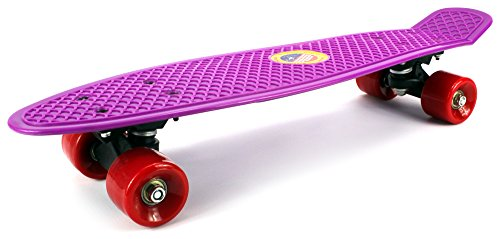 ワットモンゴメリー冷蔵するLightweight Street Cruiser Complete 22 Inch Banana Skateboard w/ High Quality Bushings, ABEC-7 Bearings (Purple) by Velocity Toys