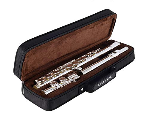 EastRock Closed Hole Flutes C 16 Key for Beginner, Kids, Student Nickel Flute with Case Stand and Cleaning kit
