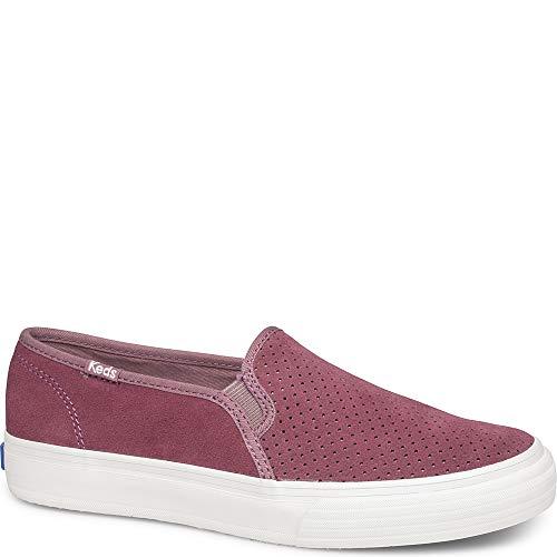 Keds Women's Double Decker Perf Suede Sneaker, Mauve, 9.5 M US