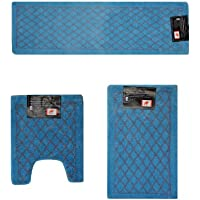 Luxurious 3 Piece Set Bathroom Rugs - Light Blue