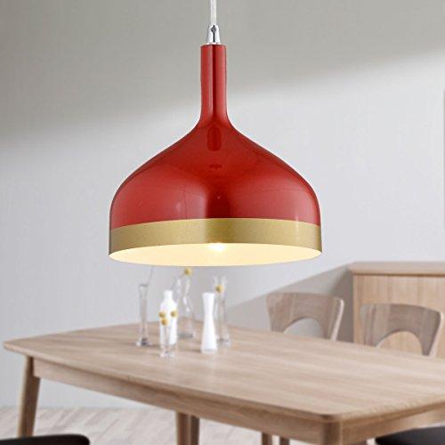 Red Aluminum Pendant Light - 5
