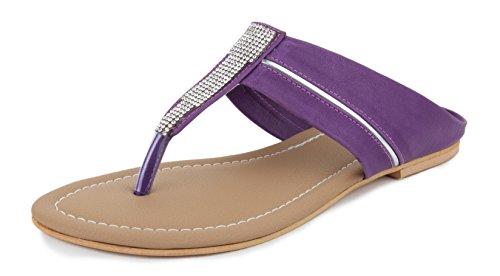 Shezone Slippers for Women Flats Sandals  Purple
