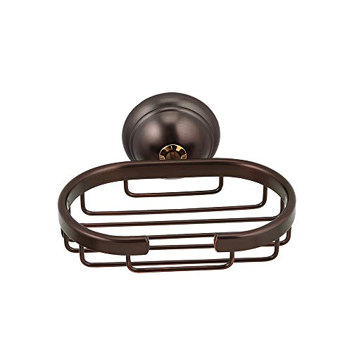 Crown Bronze Soap Dish/Basket Oil Rubbed Bronze Wall Mount for Bathroom Shower Kitchen Soap Savor, Solid Brass -