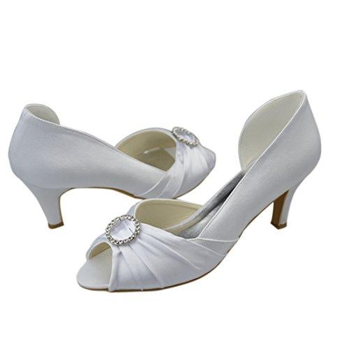 Minitoo 8cm White femme Escarpins pour Heel FwzHRrF0