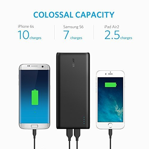 Anker PowerCore 26800 lightweight Charger 26800mAh External Battery with boost advice Port and ambigu accelerate Recharging 3 USB Ports for iPhone iPad Samsung Galaxy Android and additional good products External Battery Packs