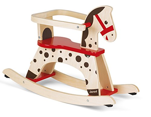 Janod Caramel Rocking Horse (Horses Traditional Wooden Rocking)
