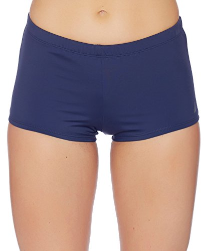 Nautica Women's Signature Boy Short Bikini Bottom, Navy, Medium