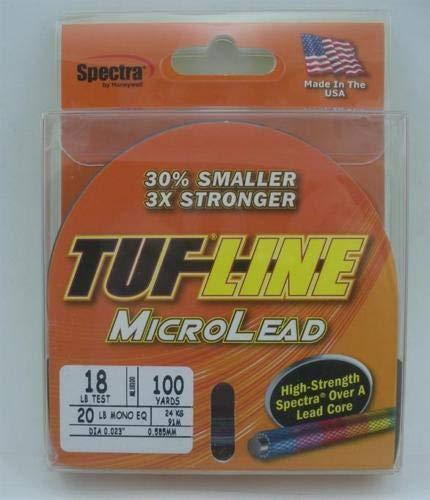 Tuf-line ML18100 Micro Lead Core Trolling Line Spectra Braided 18 lb 100yd 23120