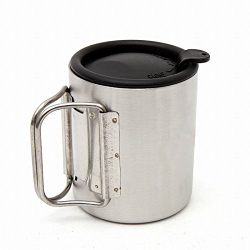 Stainless Percolator Gsi (Outdoors Bottle Cup/Pot Stainless Steel Carabiner Mug Portable Travel Water Tea Coffee Cup)