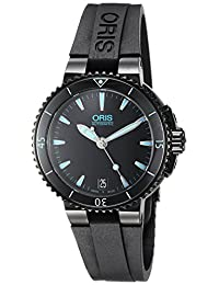 Oris Women's 73376524725RS Aquis Analog Display Swiss Automatic Black Watch