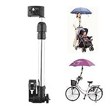 Yosoo Adjustable Baby Pram Bicycle Stroller Chair Umbrella Bar Holder Mount Stand Umbrella Bracket Accessories