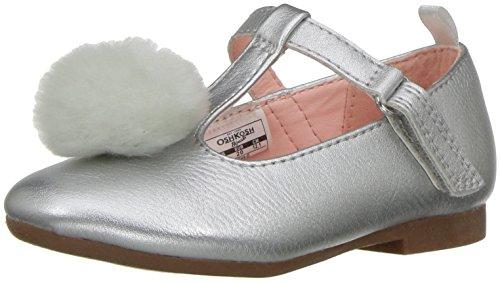 Oshkosh B'Gosh  Girls' Aretha Ballet Flat, Silver, 7 M US ()