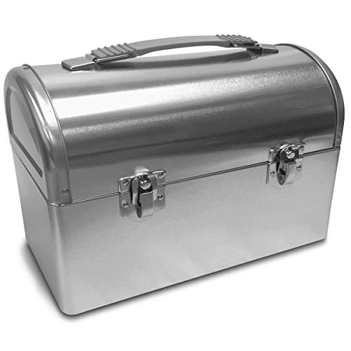 Plain Metal Dome Lunch Box - -