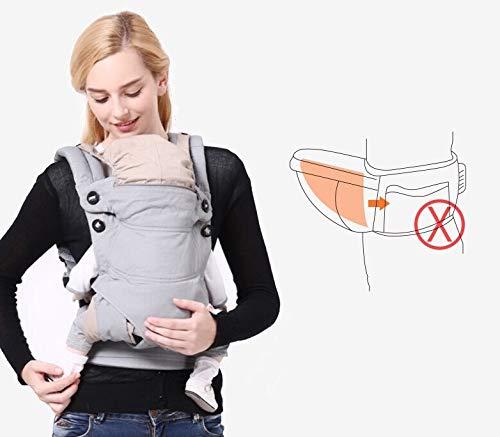 mehrere Positionen Adapt Babytragetasche S/äuglinge f/ür Neugeborene bis Kleinkinder bis 20 kg f/ür alle Jahreszeiten Baumwolle Vorder- und R/ückseite mit Kapuze und verstellbarem H/üftsitz