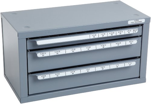 Huot 13500 Three-Drawer Fractional Tap Dispenser Cabinet for Fractional Sizes 1/4''-20 to 1''-12 by Huot Manufacturing