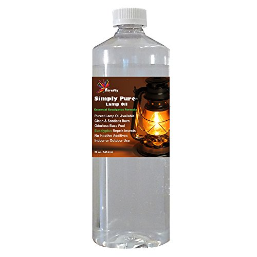 Firefly Eucalyptus Paraffin Lamp Oil - 32 oz - Odorless Base & Smokeless- Ultra Clean Burning Paraffin Oil with Eucalyptus Oil