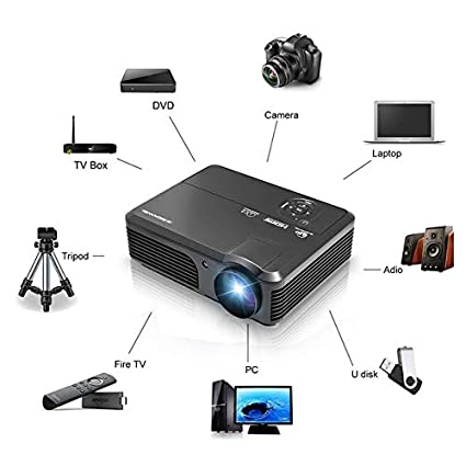 Amazon.com: DishyKooker Digital Projector LCD LED Proyector ...