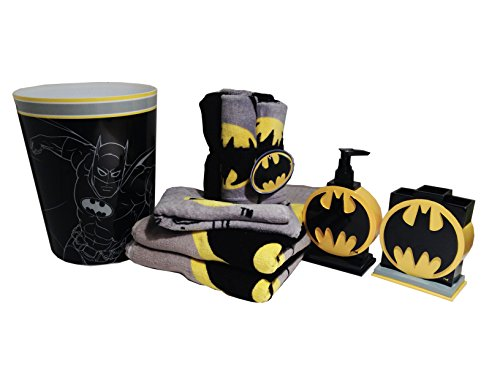 [Batman Bathroom Accessories 12pc Bundle] (Yup Yups Costume)