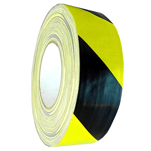 WOD CDT-70 Stripe Safety Contractor Grade Black & Yellow Duct Tape 12-Mil, Waterproof, UV Resistant For Crafts & Home Improvement (Available in Multiple Sizes & Colors): 4 in. x 60 yds. (1-Pack)