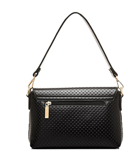 Main Cross Pour Mode Black DHFUD embossed Sac Package Shoulder Femmes Diagonal à qxaWgCwE