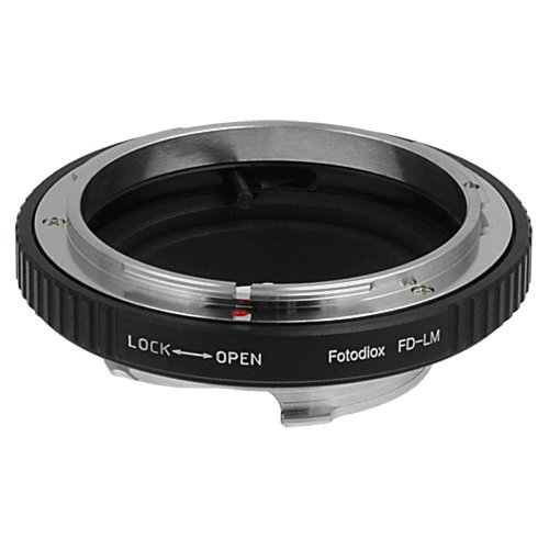 Fotodiox Lens Mount Adapter, Canon FD Lens to Leica M-Series Camera Fits Leica M-Monochrome, M8.2, M9, M9-P and M10