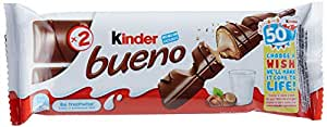 Kinder Bueno Milk Chocolate Covered Wafer, 30 x 43 Grams