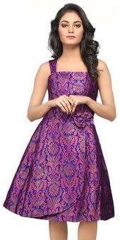 TheFabricFactory Silk Brocade Fabric (Purple Royal Blue with Metallic  Gold): Amazon.in: Home & Kitchen