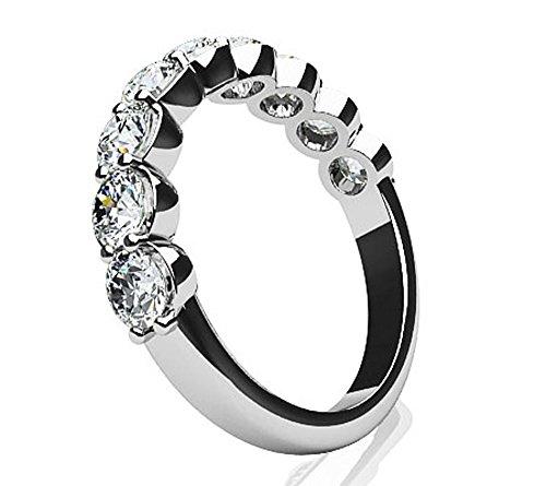 14K Or blanc diamant Dreams anniversaire de mariage Bague