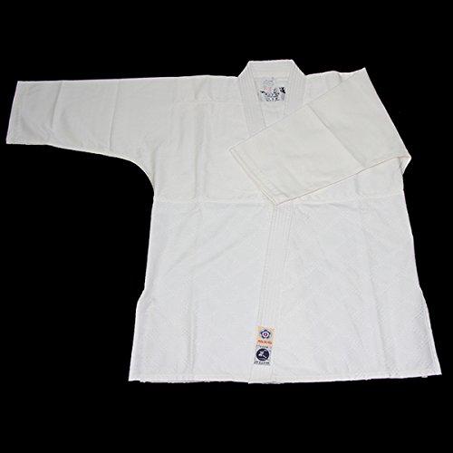【東山堂】最高級抗菌防臭加工合気道衣「蓬(よもぎ)」※上衣のみ  6号
