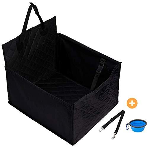 Asiento para perros para asiento del pasajero - 45 x 45cm con 58cm de la parte de atrás y 32cm en los laterales - Superficie del asiento es acolchada y ...