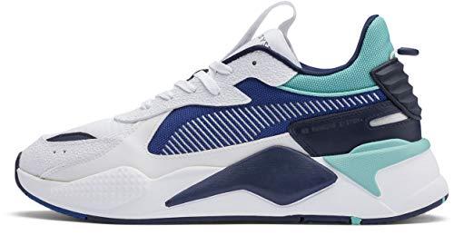 PUMA RS-X Shoe, Puma White-Galaxy Blue, 9 M US