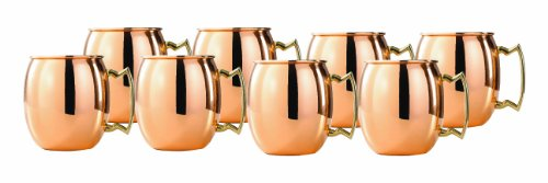 Old Dutch 2-Ounce Solid Copper Moscow Mule Shot Mugs, Set of 8 (OS418) by Old Dutch