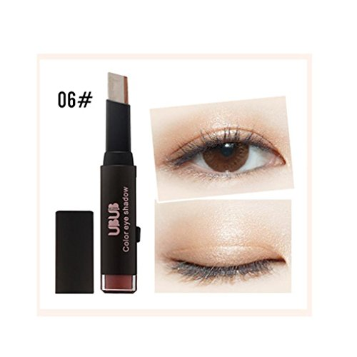 - DMZ New Waterproof Gradient Two-Color Eye Shadow Stick Shimmer Palette Eye Cream Pen (F)