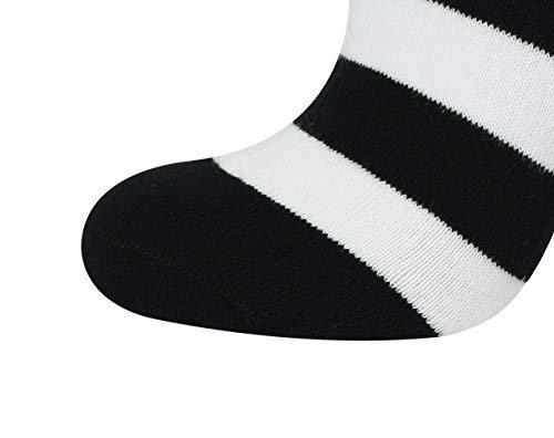 Mysocks Calzini al ginocchio banda Cotone pettinato extra puro bianco e nero