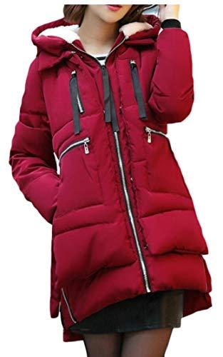 Incappucciato Della Donne Sportiva Lungo Allentato Eku 1 Caldo Cappotto Inverno Delle Casuale Giù Tuta rTwqpr