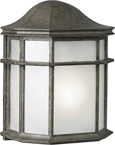 Forte Lighting 1719-01 Outdoor Wall Sconce from The Exterior Lighting Collection, River Rock