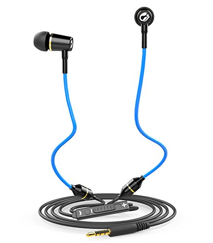 Anti Radiation Air Tube Headset - EMF Protection Headphones Earbuds Earphones with Mic and Volume Control Carrying Case, Blue, 2018 Newly Upgraded by AirTube