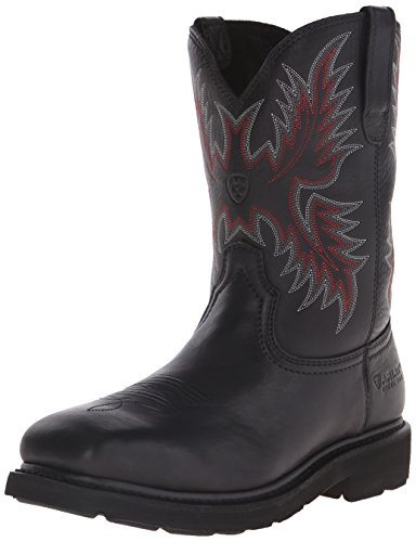 Ariat Men's Sierra Wide Square Steel Toe Work Boot, Black, 9.5 D US