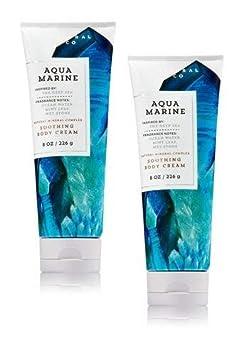 Bath and Body Works 2 Pack Aquamarine Body Cream 8 Oz.