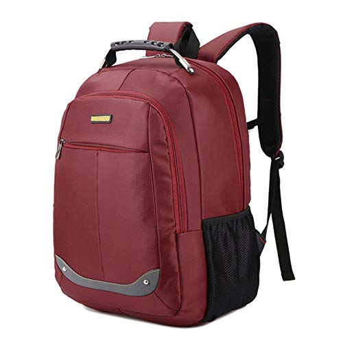 Dhfud Winered Business Waterproof Laptop Fashion Bag Simplicity Backpack Casual Men's TF4qvaT