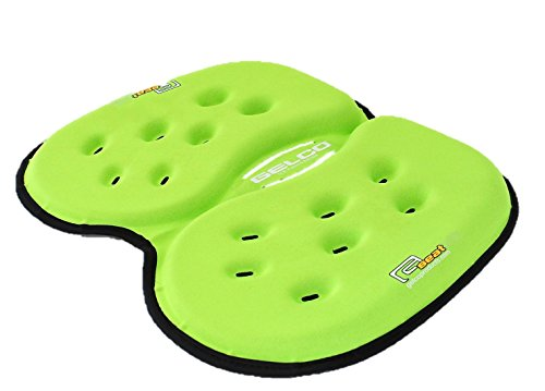Gelco Portable Seat Cushion - May Prevent, Relieve and help Recovery From Low Back and Coccyx Pain- Comfortable Seat Pad for Office, Home Driving and more. (Foldable Stadium Seat Cushion)