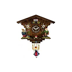 Trenkle Uhren ANNALIESSE Black Forest Swinging Girl Clock #56000 sold by Hermle