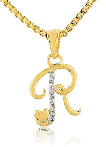 Buy skn silver and golden american diamond name word r pendant with skn silver and golden american diamond name word r pendant with box chainskn thecheapjerseys Gallery