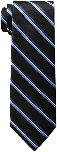 Tommy Hilfiger Men's Black Ties, Onyx, Regular