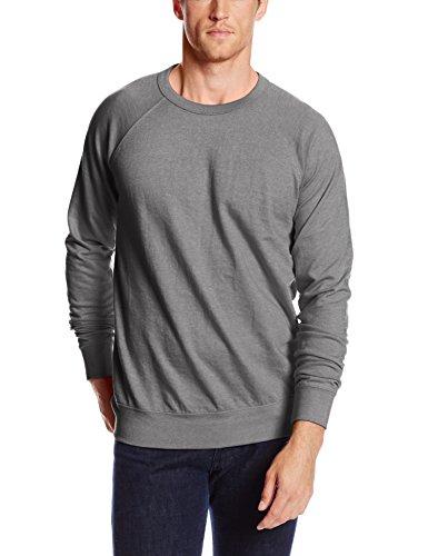 French Terry Sweatshirt (MJ Soffe Men's French Terry Crew Sweatshirt, Graphite Heather, Small)