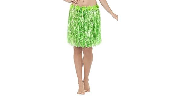 NET TOYS Falda caribeña Faldita Hawaiana Verde Minifalda Playa ...