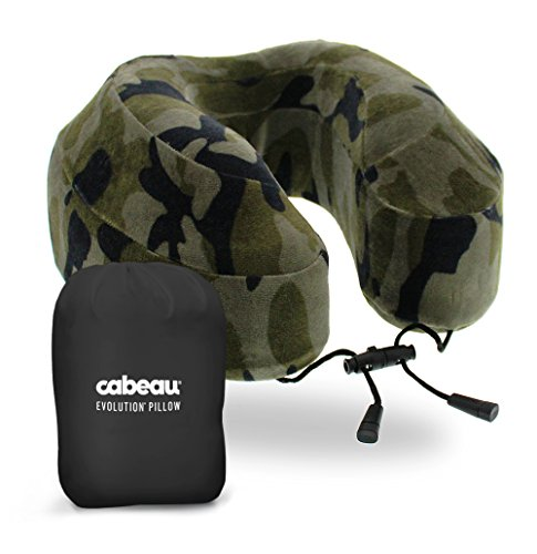 Evolution Camo (Cabeau Evolution Memory Foam Travel Neck Pillow - The Best Travel Pillow with 360 Head, Neck and Chin Support, Camouflage)