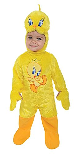 Tweety Bird Child Costumes (Looney Tunes Tweety Bird Romper Costume, Yellow, 12-18 Months)