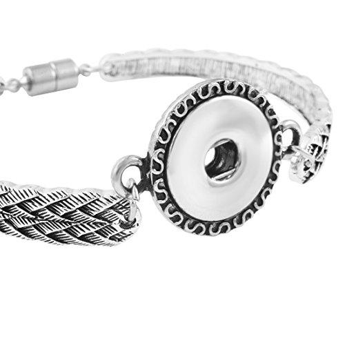 Souarts Femmes Bijoux Bracelet pour Snap Bouton Pression de 5.5mm 22cm 1PC