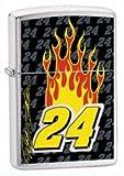 Zippo Lighter Jeff Gordon 24, Brushed Chrome